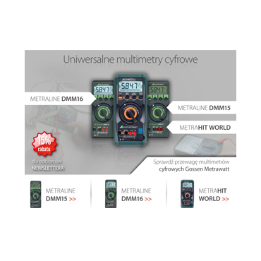 Uniwersalne multimetry cyfrowe